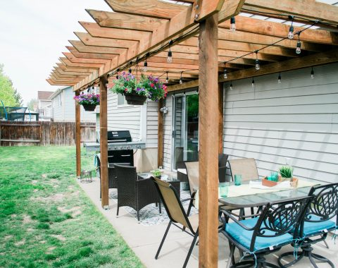 Backyard Patio Idea - DIY Pergola for under 1,000 // Hey There, Chelsie - A Utah Lifestyle Blog