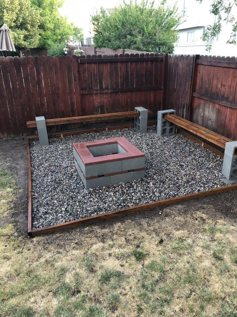 DIY Backyard Firepit // Hey There, Chelsie - a Utah lifestyle blog