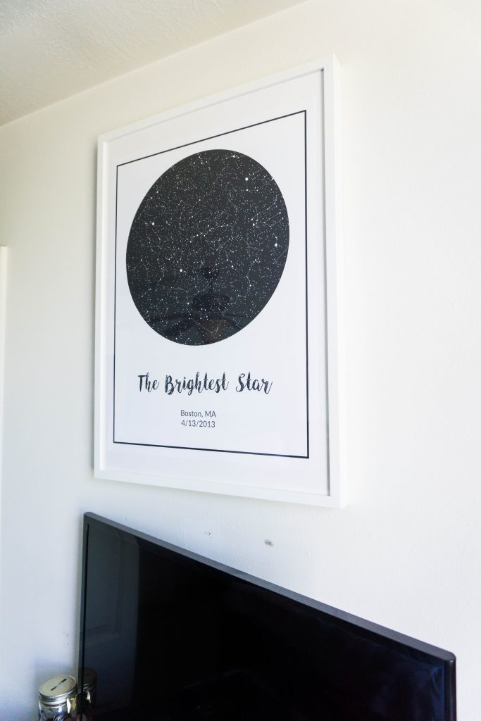 Star Map Art - perfect art for a master bedroom // Hey There, Chelsie - A Utah Lifestyle Blog