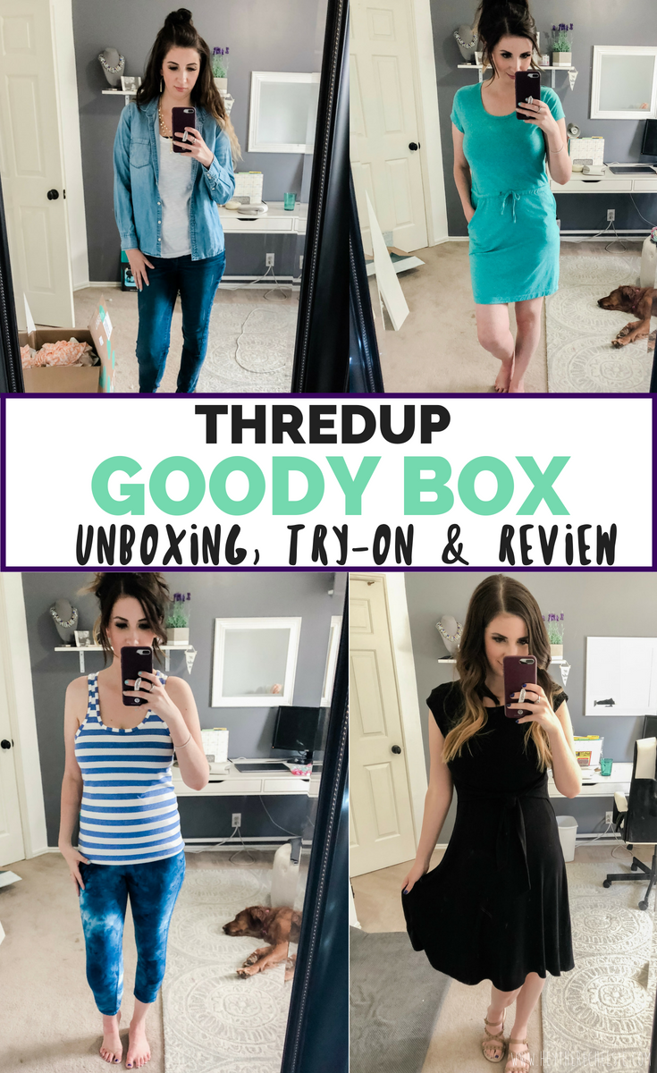 f7a0134776940b A complete review of the Thredup Goody box subscription service, including  a Thredup Goody box