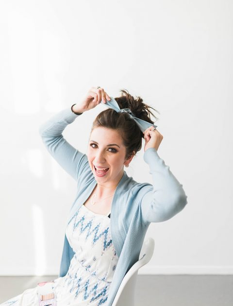 How to Wear a Hair Scarf In a Messy Bun | Tutorial
