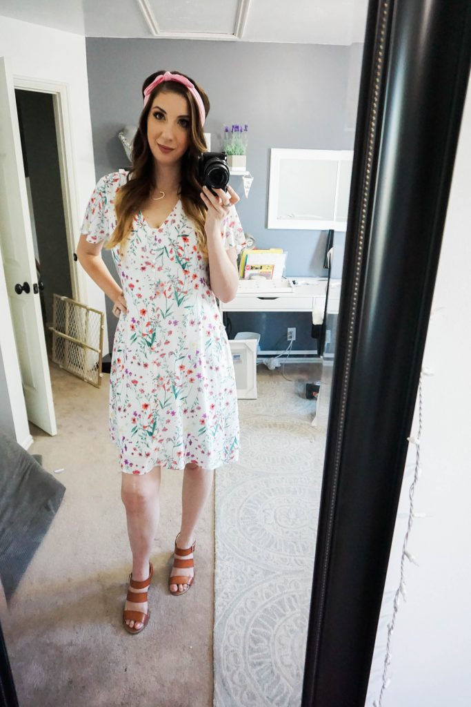 Summer Work Outfit Idea - this floral dress from down east basics is perfect for the workplace during the summer!