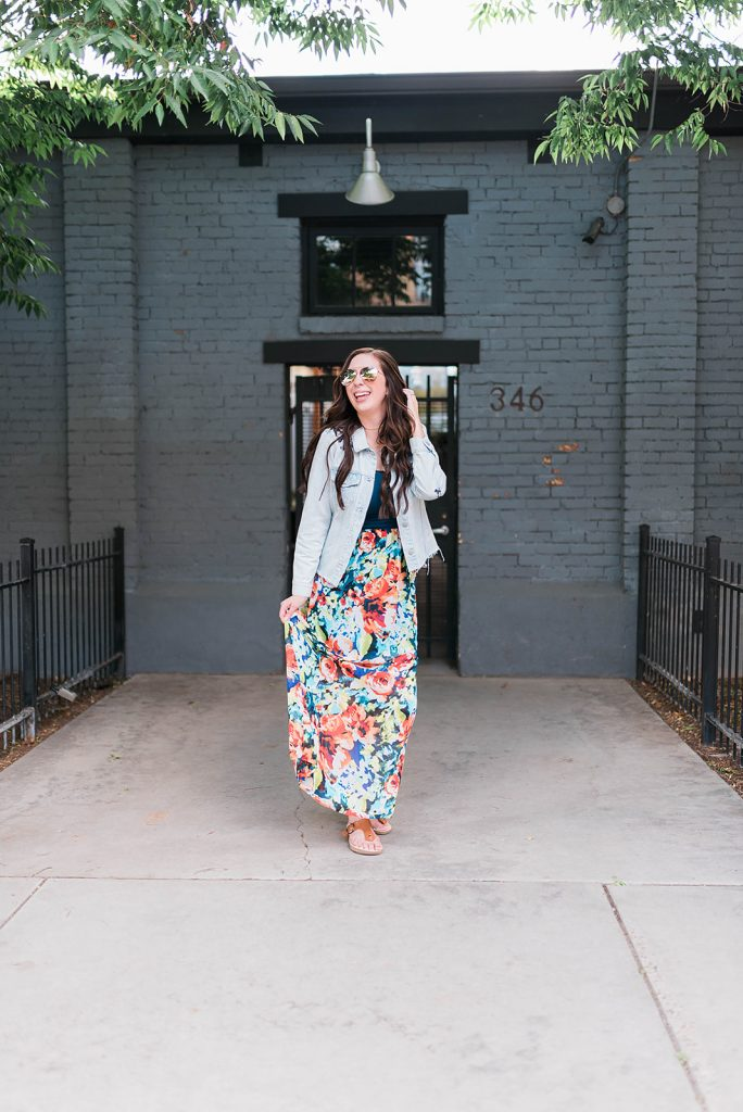 Summer Maxi Dress & Jean Jacket Outfit Idea // Hey There, Chelsie - a Utah Lifestyle Blog