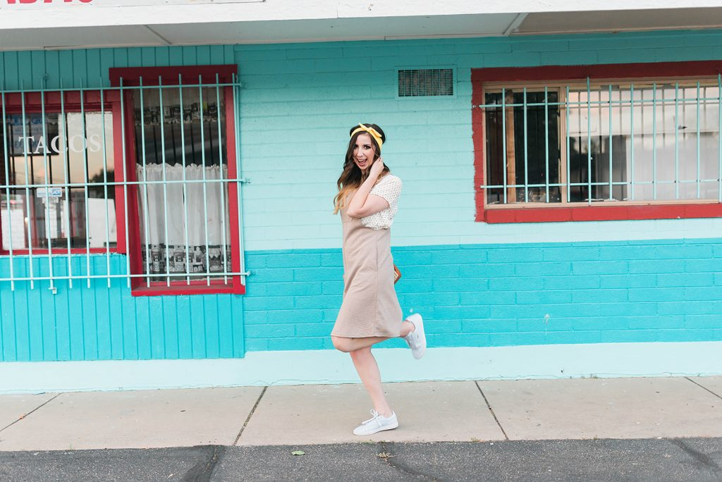 Overall Dress Outfit Idea // Hey There, Chelsie - A Utah Lifestyle Blog