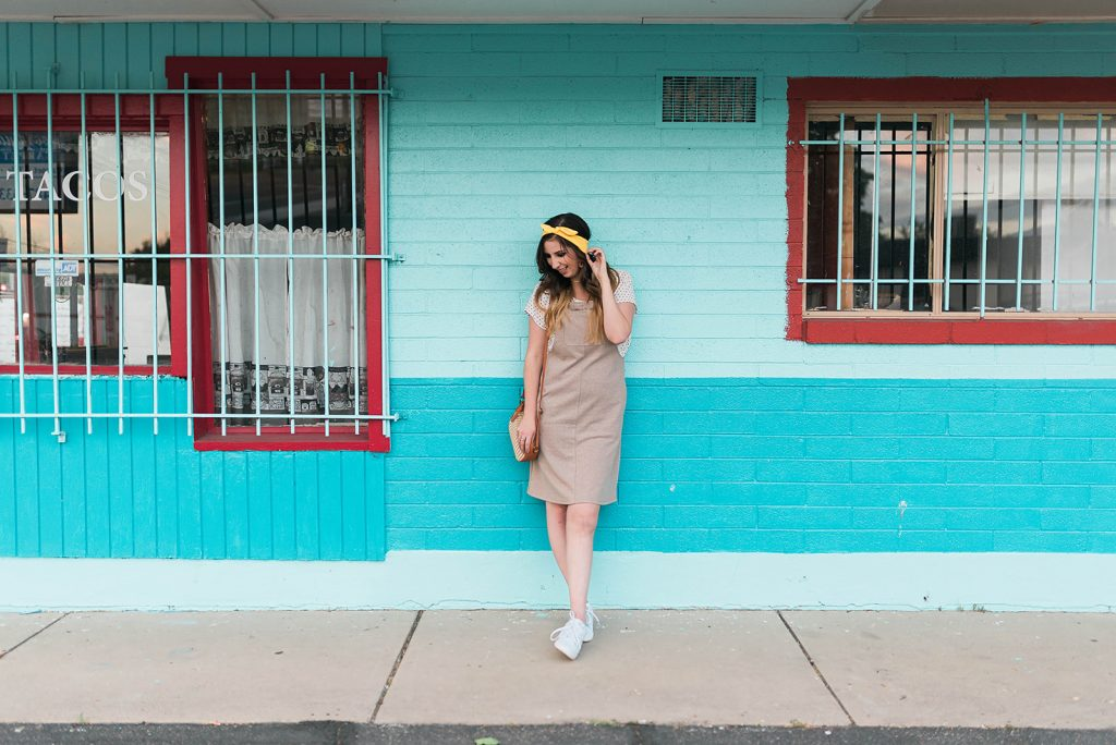 Overall Dress Outfit Idea // Hey There, Chelsie