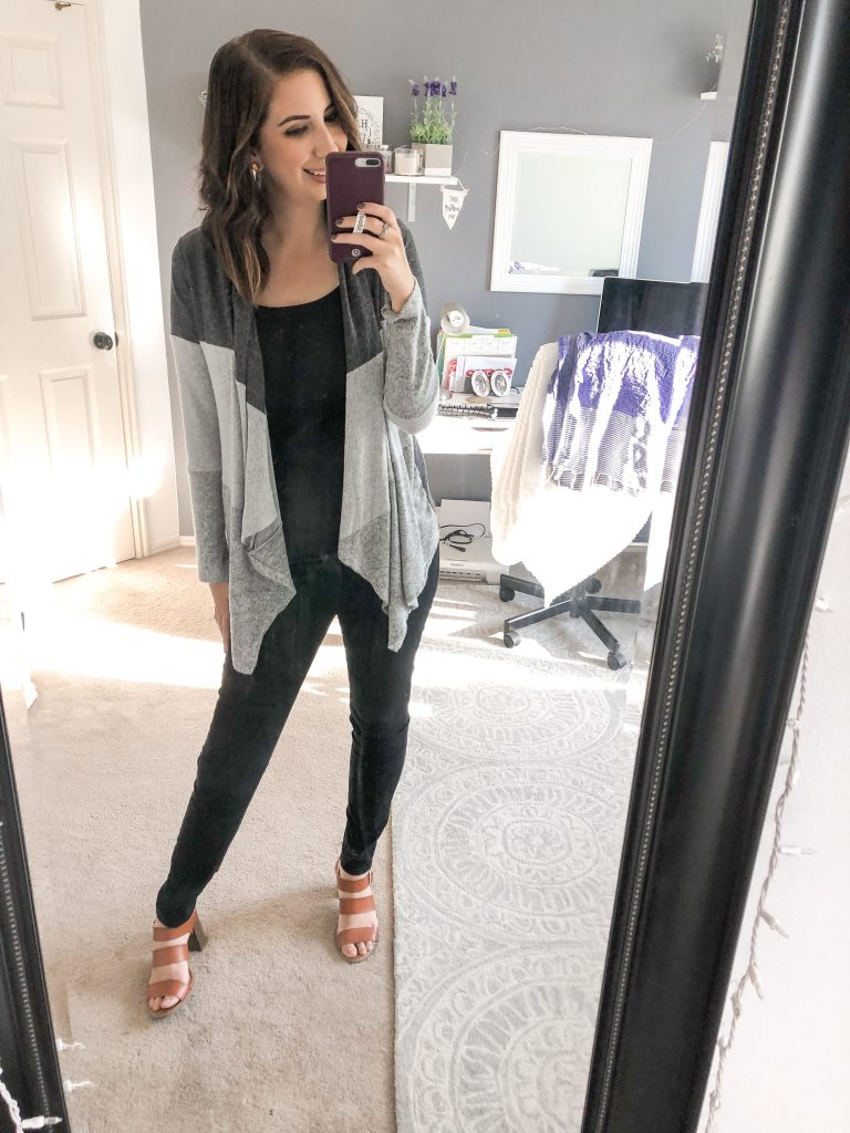 Alyvia Color Blog Cardigan - Fall Stitch Fix 2018 Review and Try-on // Hey There, Chelsie
