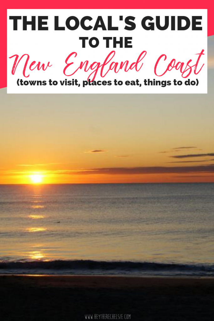 The Local's Guide to the New England Coast. Here's a full list of places to see (including Newburyport, MA and Portsmouth, NH) along the New England Coast, places to eat (looking at you Markey's Lobster Pool and Tripoli's Pizza) and things to do (like the U.S.S. Albacore!) This complete guide to the New England coast will have you planning a vacation like a local! // Hey There, Chelsie