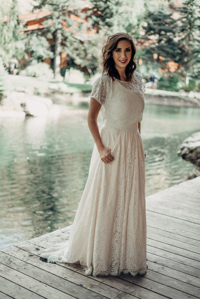 Modest Wedding Dress and Bridal Photoshoot - beautiful wedding dress with sleeves and pockets. BLANC Bridal by Julia LeSuer - dresses perfect for temple weddings // Hey There, Chelsie