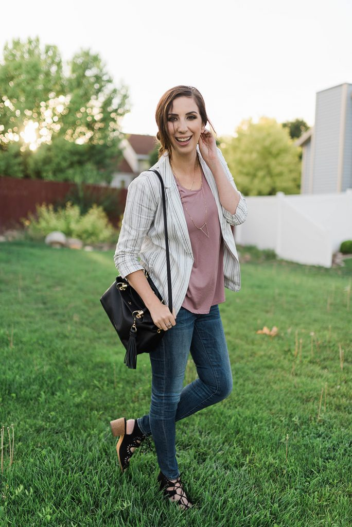 Transitional Fall Outfit for the Office by Downeast Basics // Hey There, Chelsie
