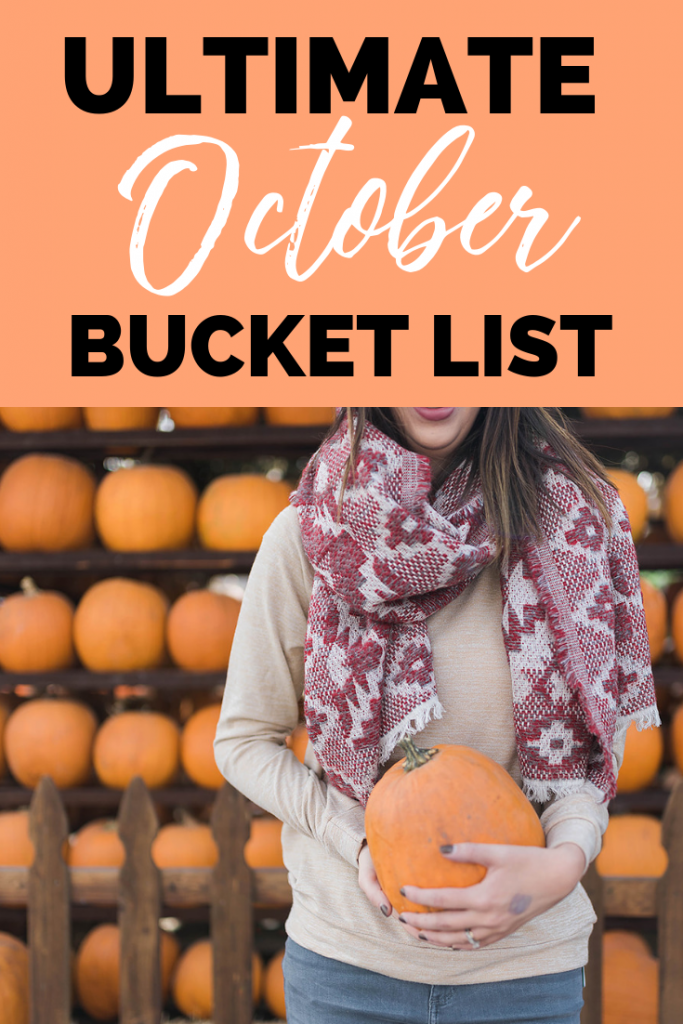 The Ultimate October Bucket List, full of the best fall activities and things to do during October. These October Activities are perfect for Autumn and will keep you busy all fall long // Hey there, Chelsie