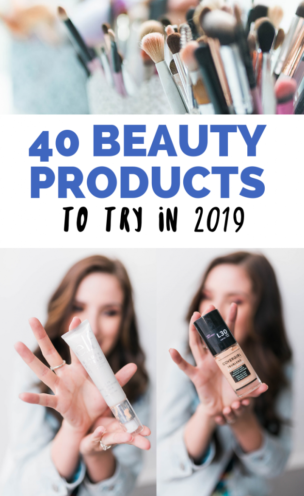 Rounding up the BEST beauty products of 2018 that you NEED to try in 2019! These are some of the best drugstore makeup and beauty products, best high-end foundations and eyeshadow palettes, best skincare products, and best hair products (including dry shampoo) out there!