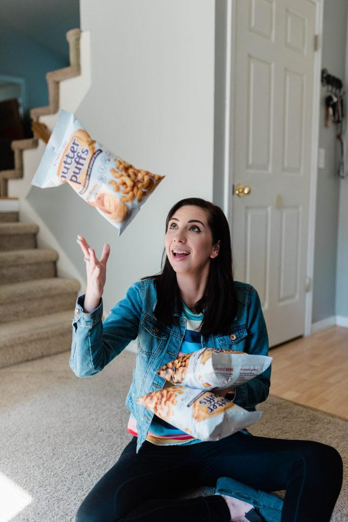 sharing my favorite anytime snack - nutter puffs! // Hey There, Chelsie