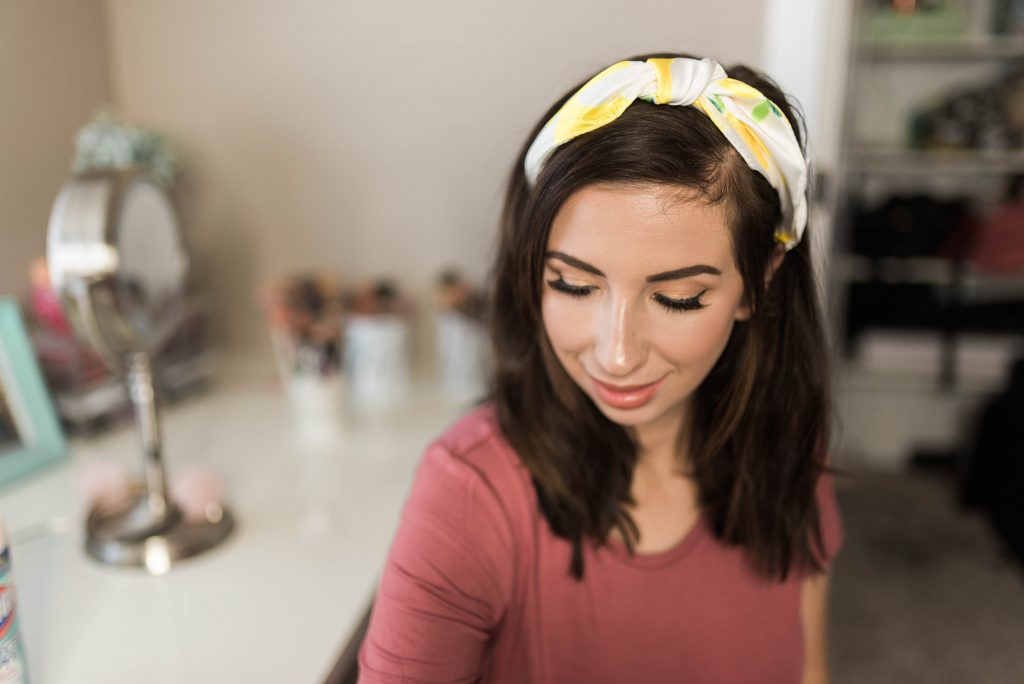 Silk Lemon Print Hair scarf - the perfect hair accessory for summer! Click here for my must-have summer favorites from Amazon // Hey There, Chelsie