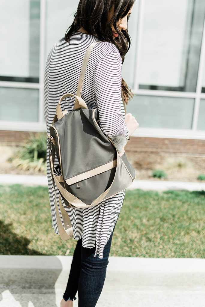 Cute anti-theft backpack from Amazon - the perfect backpack for traveling this summer! Click here to see all of my must-have amazon favorites // Hey There, Chelsie